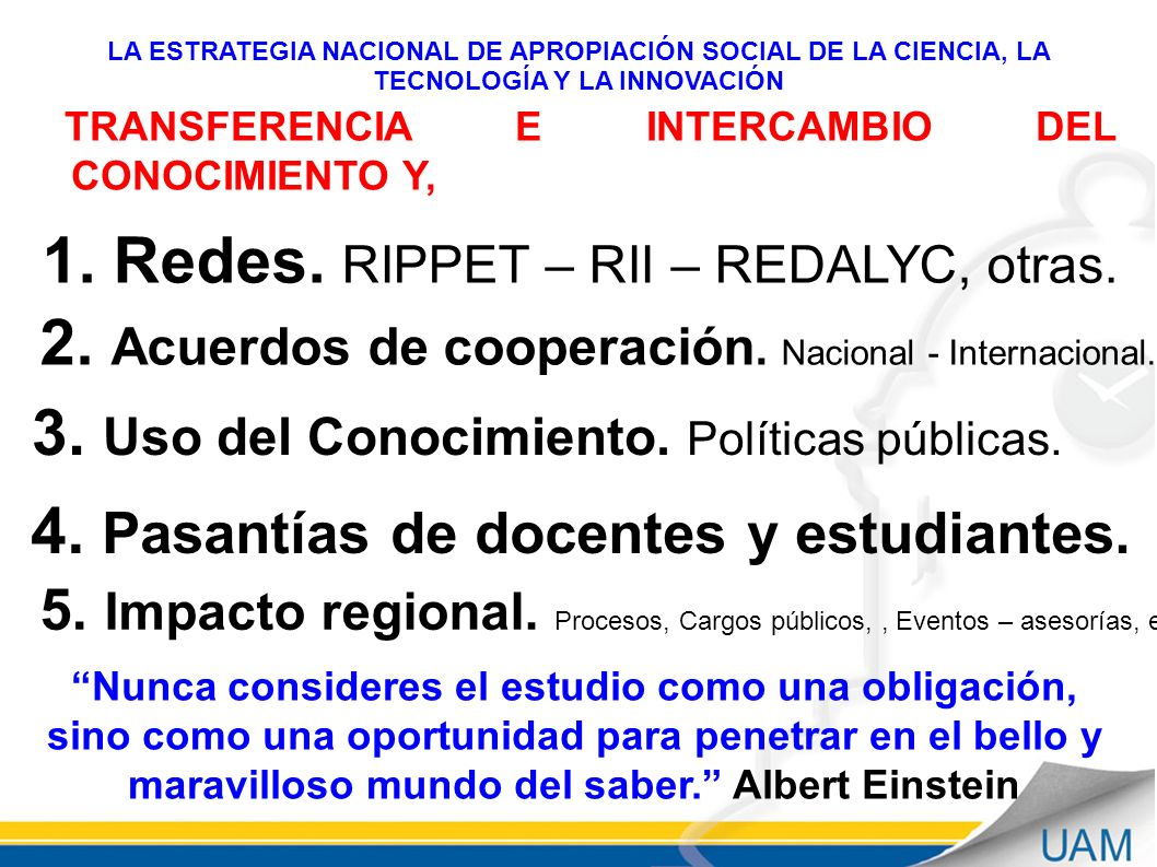 1. Redes. RIPPET – RII – REDALYC, otras.