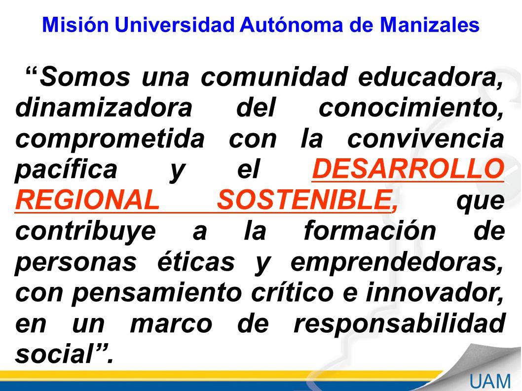 Misión Universidad Autónoma de Manizales