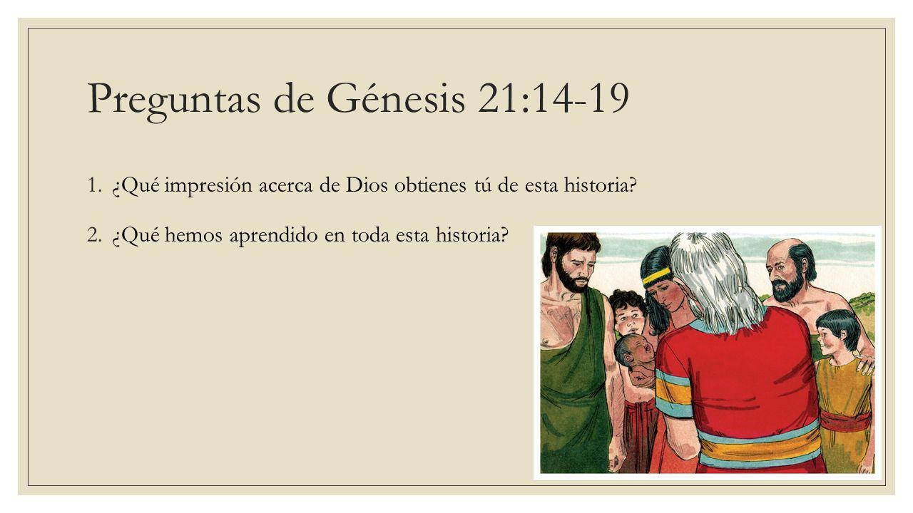 Preguntas de Génesis 21:14-19
