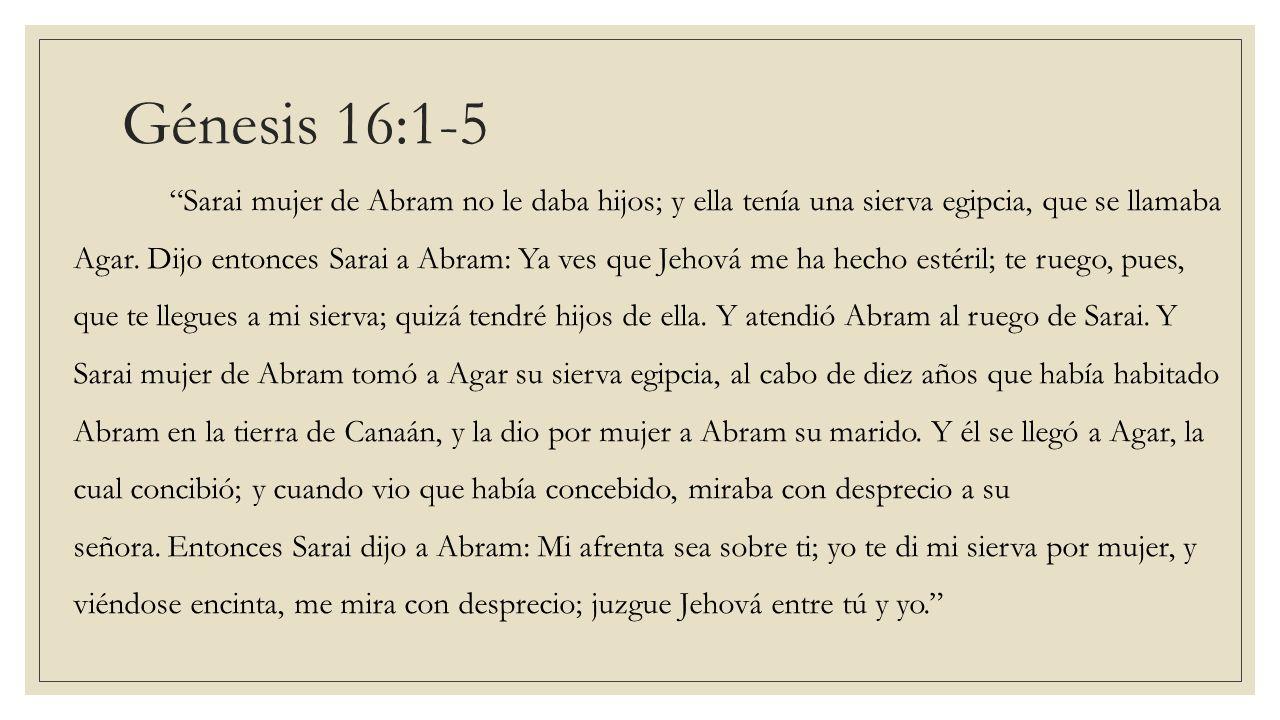 Génesis 16:1-5