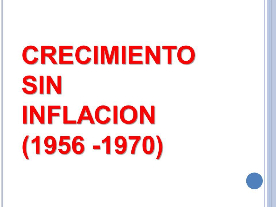 CRECIMIENTO SIN INFLACION (1956 -1970)
