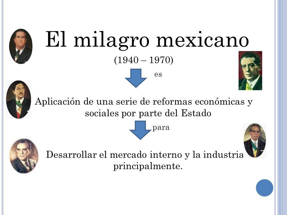 Desarrollar el mercado interno y la industria principalmente.