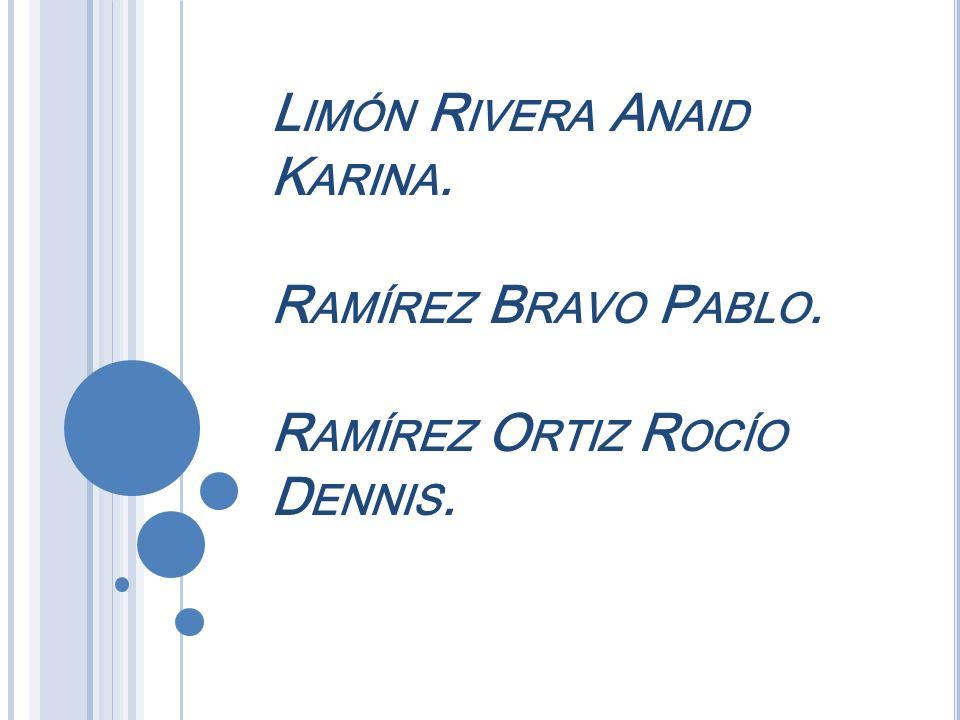 Limón Rivera Anaid Karina. Ramírez Bravo Pablo