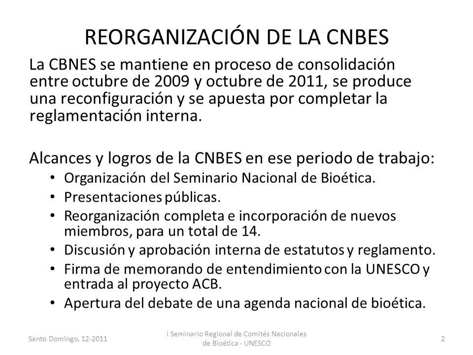 REORGANIZACIÓN DE LA CNBES