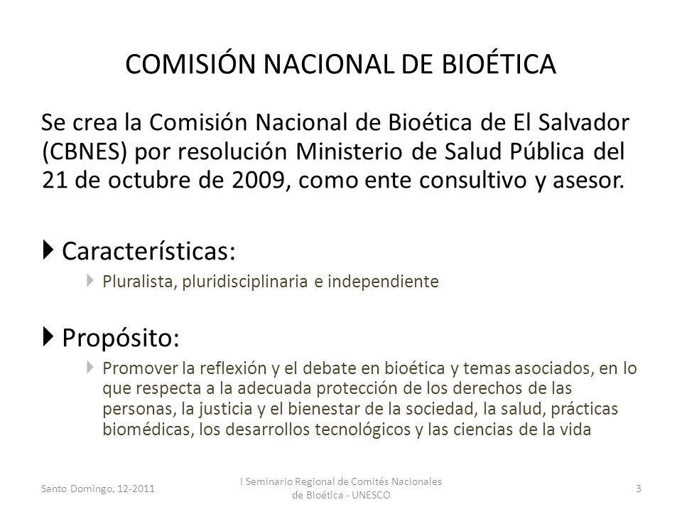 COMISIÓN NACIONAL DE BIOÉTICA