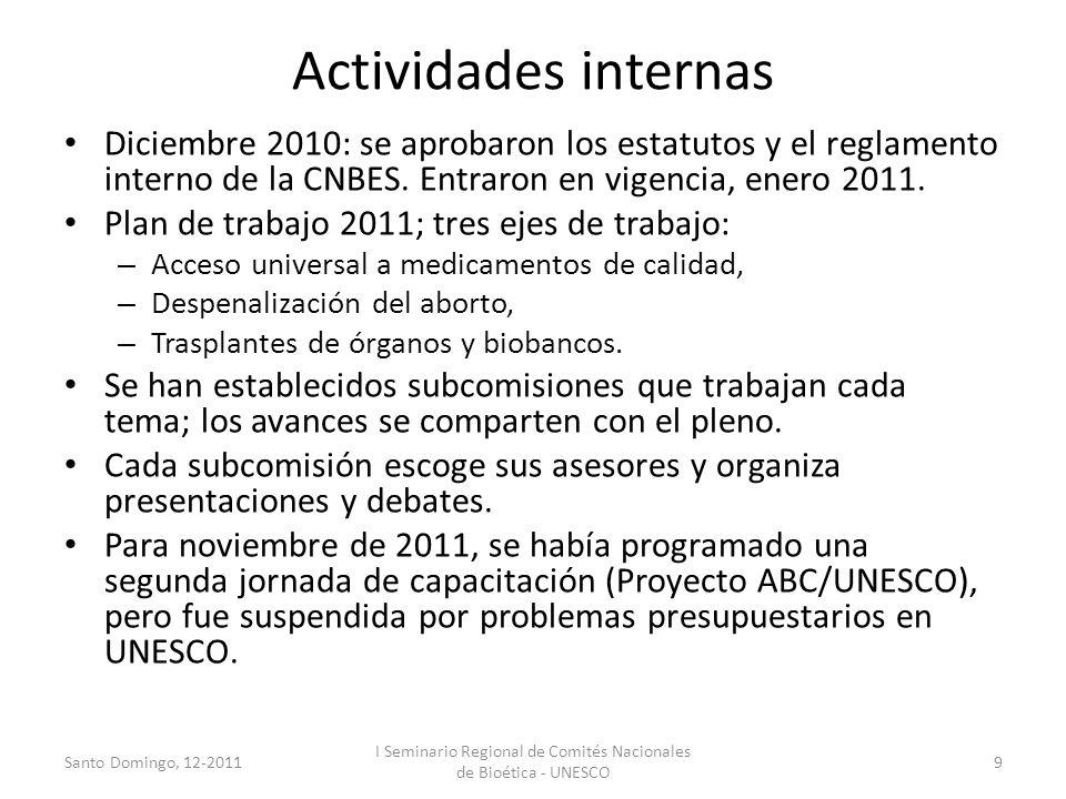 I Seminario Regional de Comités Nacionales de Bioética - UNESCO
