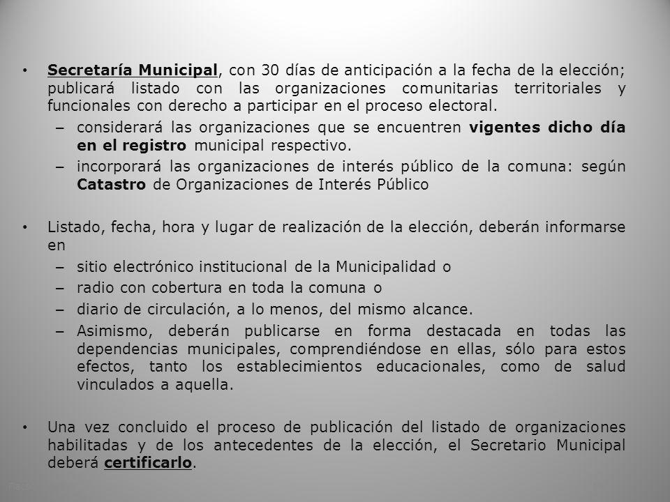 sitio electrónico institucional de la Municipalidad o