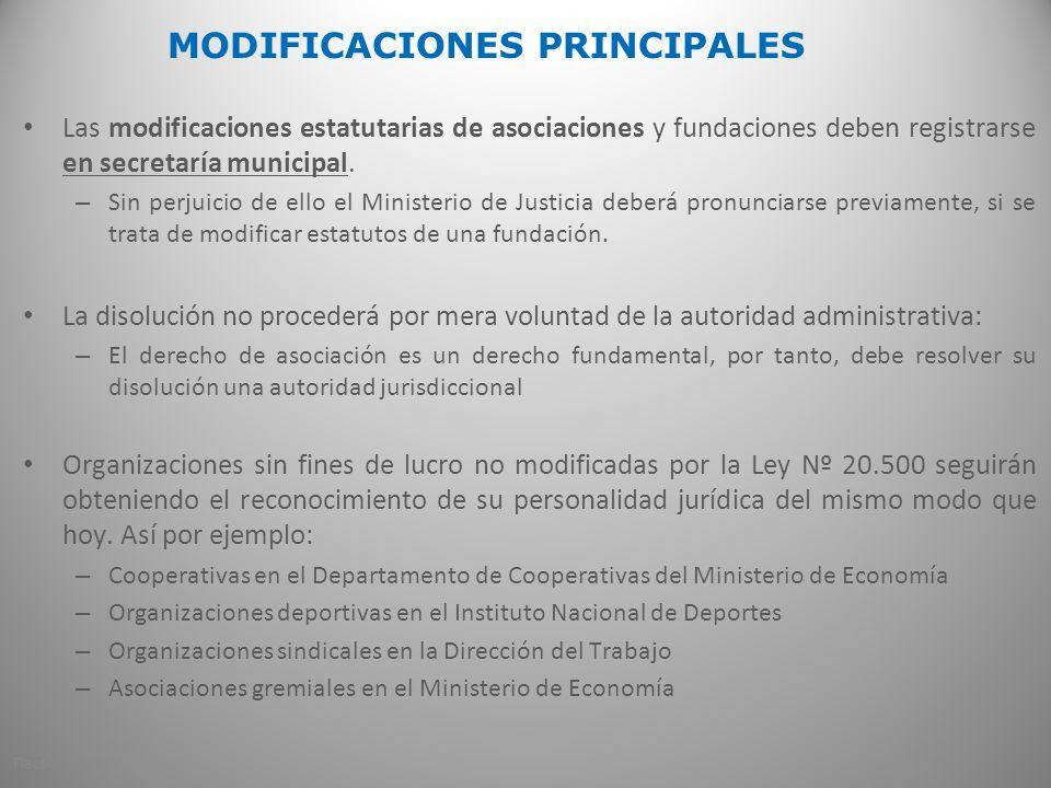 MODIFICACIONES PRINCIPALES