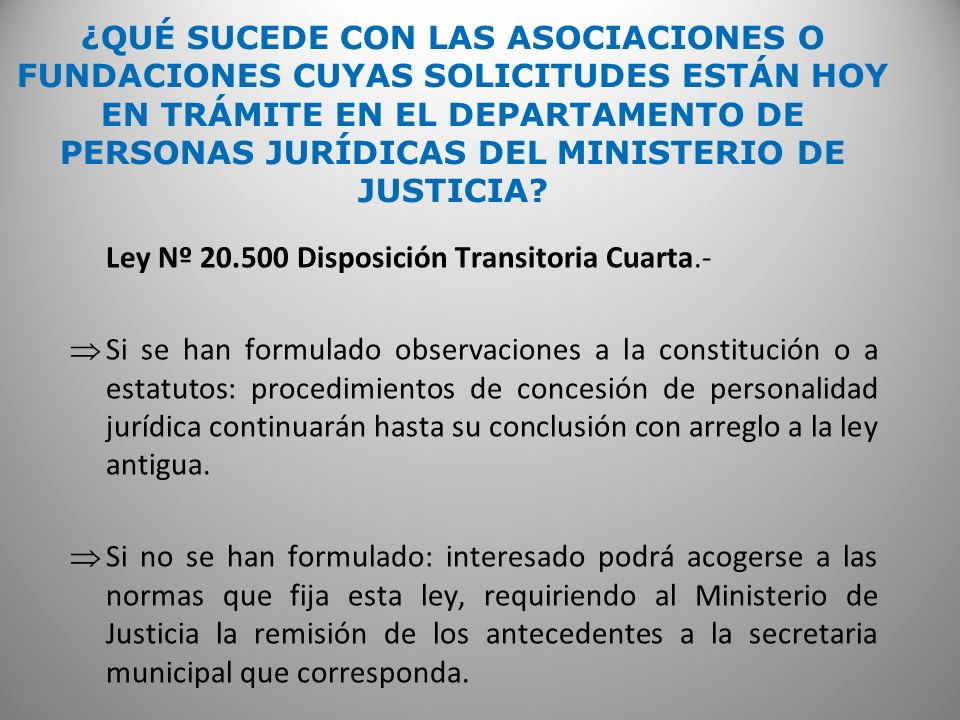 Ley Nº 20.500 Disposición Transitoria Cuarta.-