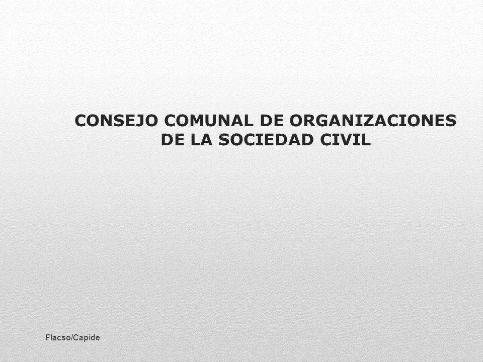 CONSEJO COMUNAL DE ORGANIZACIONES DE LA SOCIEDAD CIVIL