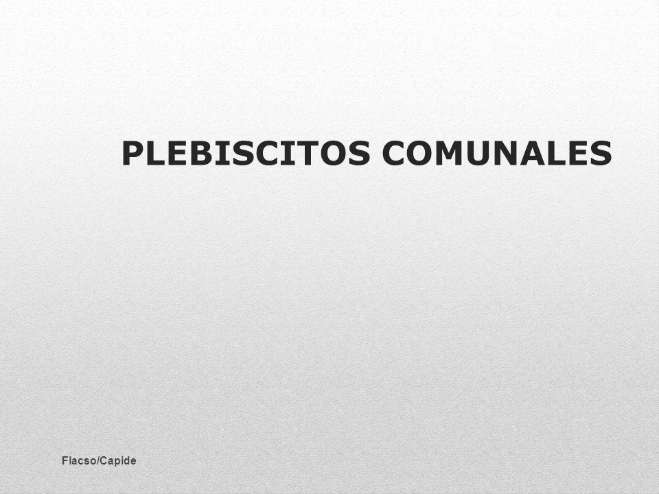 PLEBISCITOS COMUNALES
