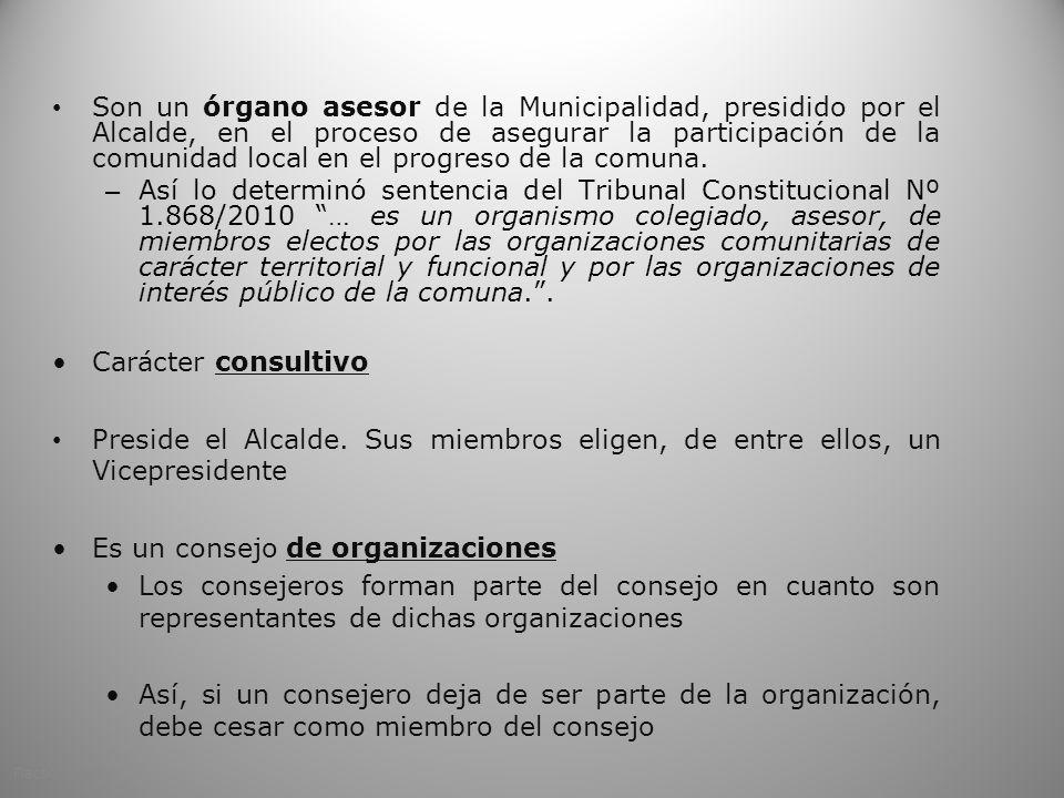 Es un consejo de organizaciones