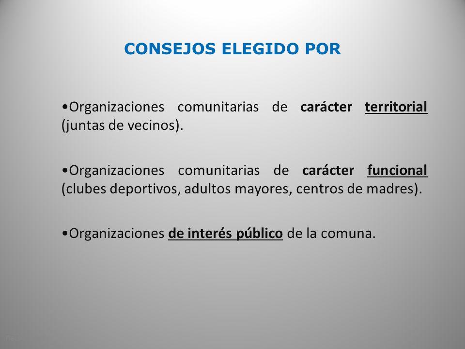 Organizaciones de interés público de la comuna.