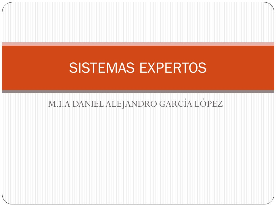 M.I.A DANIEL ALEJANDRO GARCÍA LÓPEZ