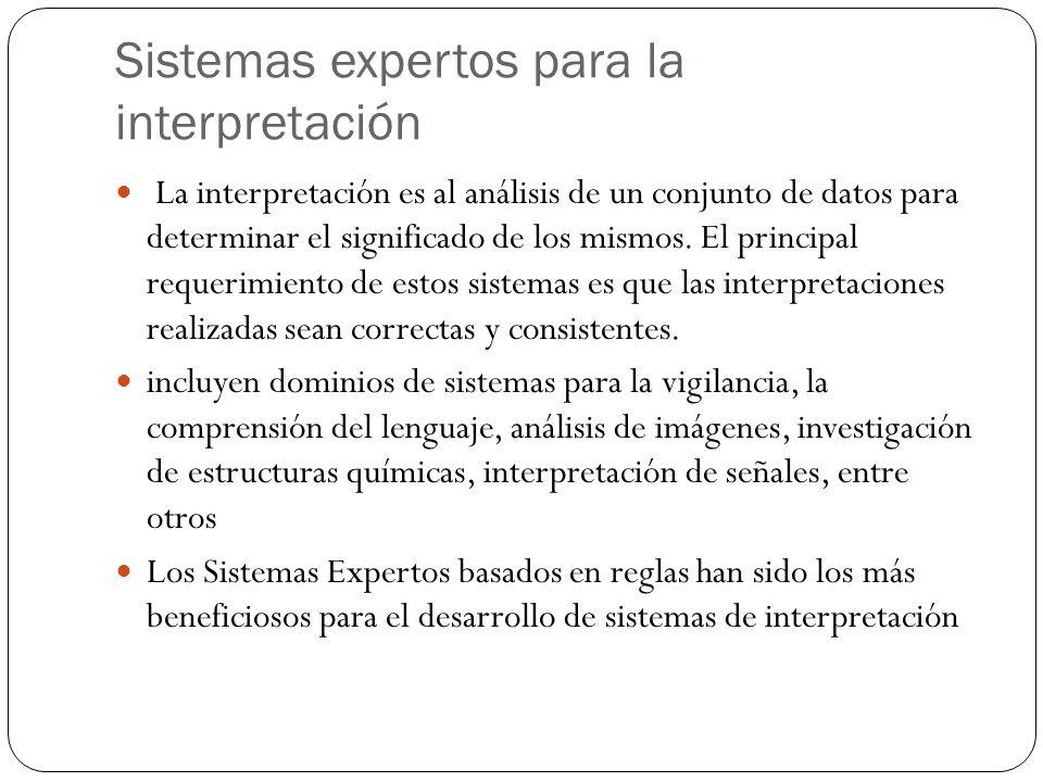 Sistemas expertos para la interpretación