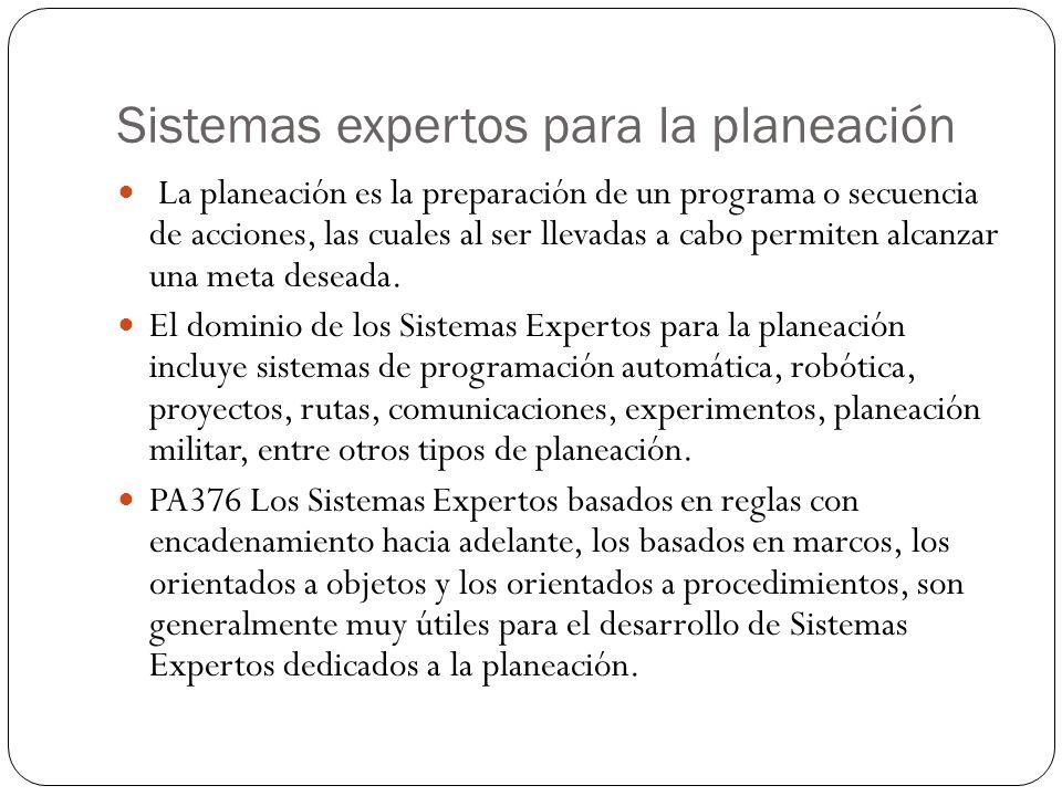 Sistemas expertos para la planeación