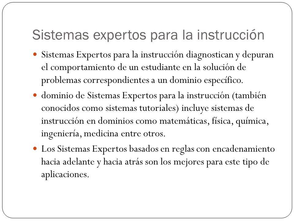 Sistemas expertos para la instrucción
