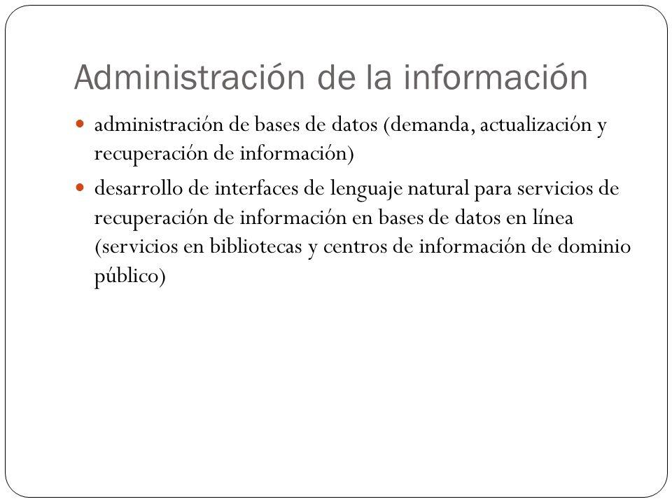 Administración de la información