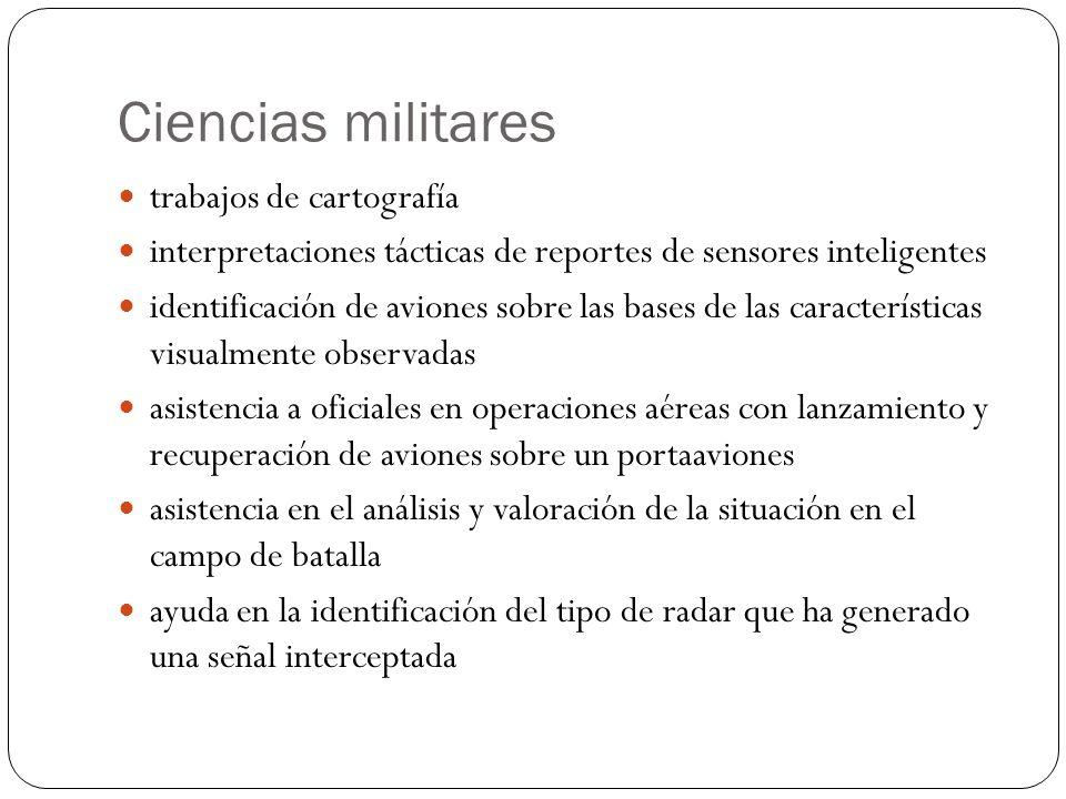 Ciencias militares trabajos de cartografía