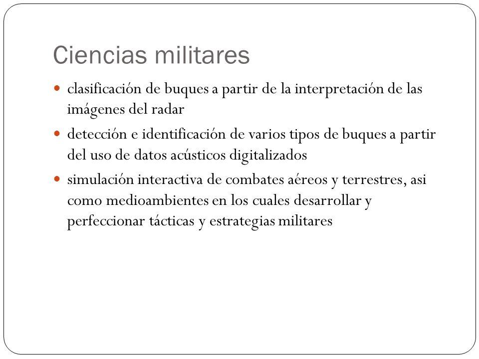 Ciencias militares clasificación de buques a partir de la interpretación de las imágenes del radar.