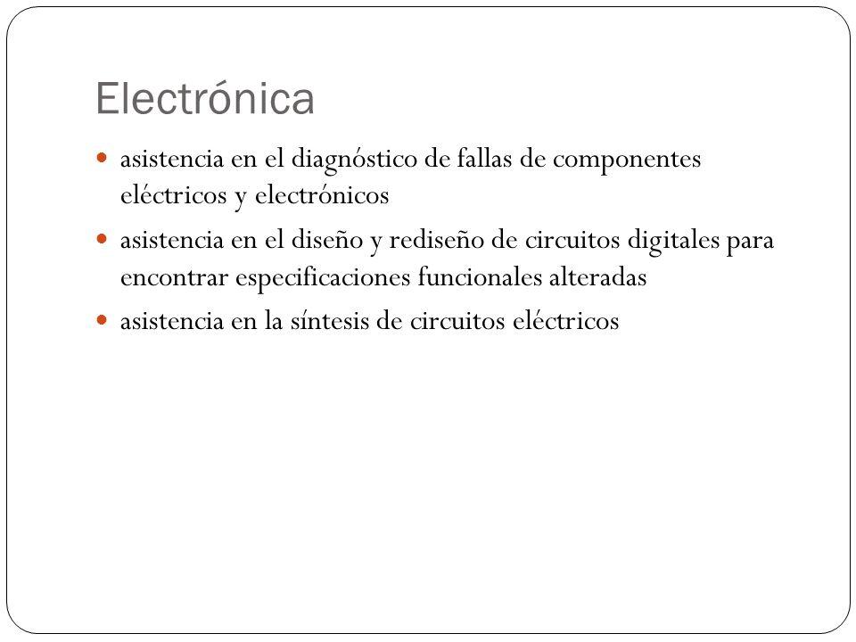Electrónica asistencia en el diagnóstico de fallas de componentes eléctricos y electrónicos.