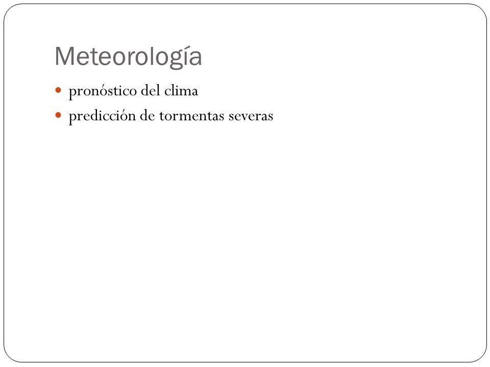Meteorología pronóstico del clima predicción de tormentas severas