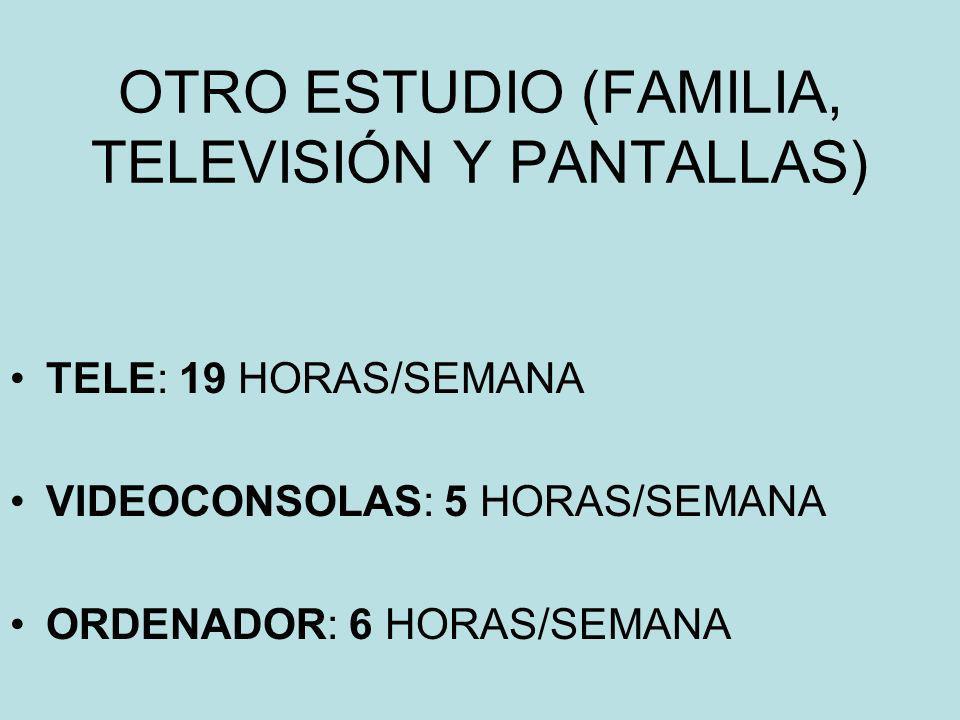 OTRO ESTUDIO (FAMILIA, TELEVISIÓN Y PANTALLAS)
