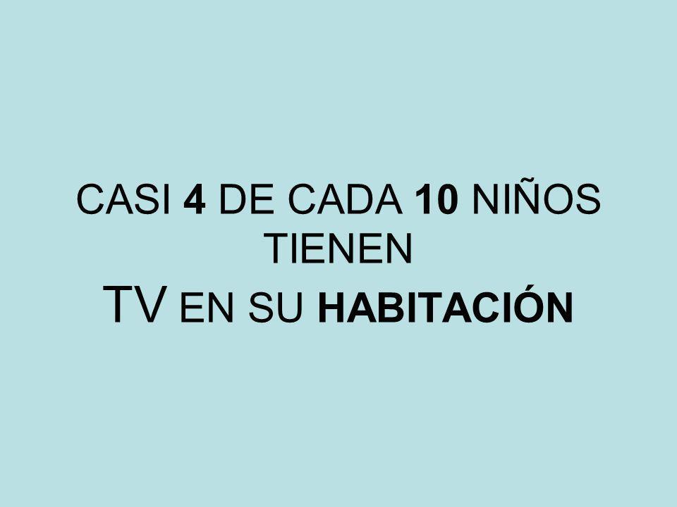 CASI 4 DE CADA 10 NIÑOS TIENEN TV EN SU HABITACIÓN