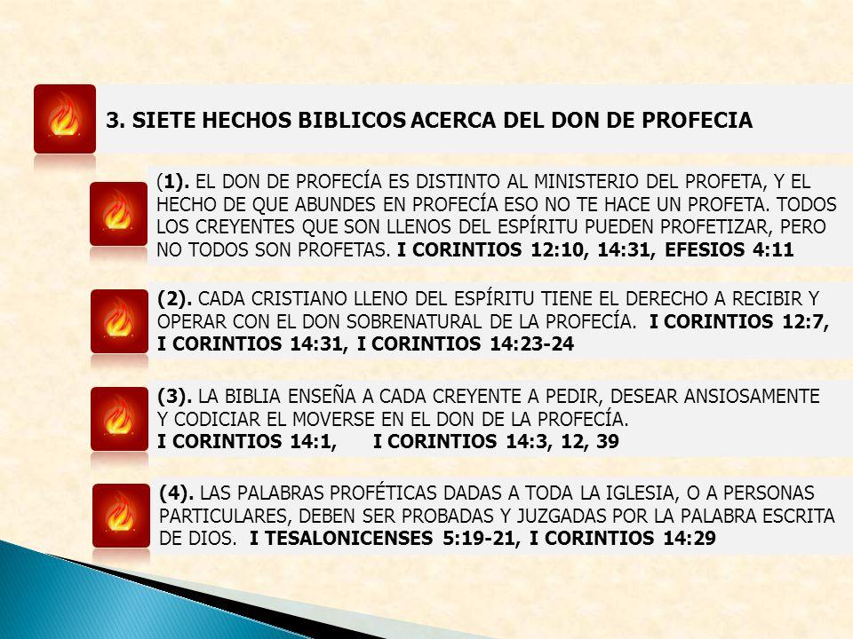 3. SIETE HECHOS BIBLICOS ACERCA DEL DON DE PROFECIA