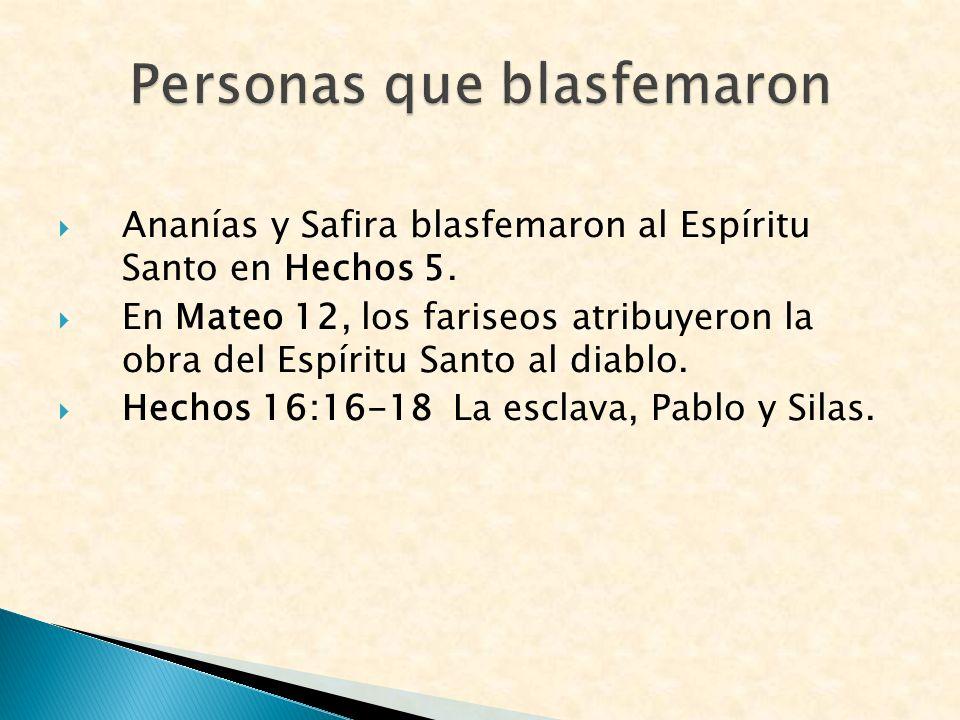 Personas que blasfemaron
