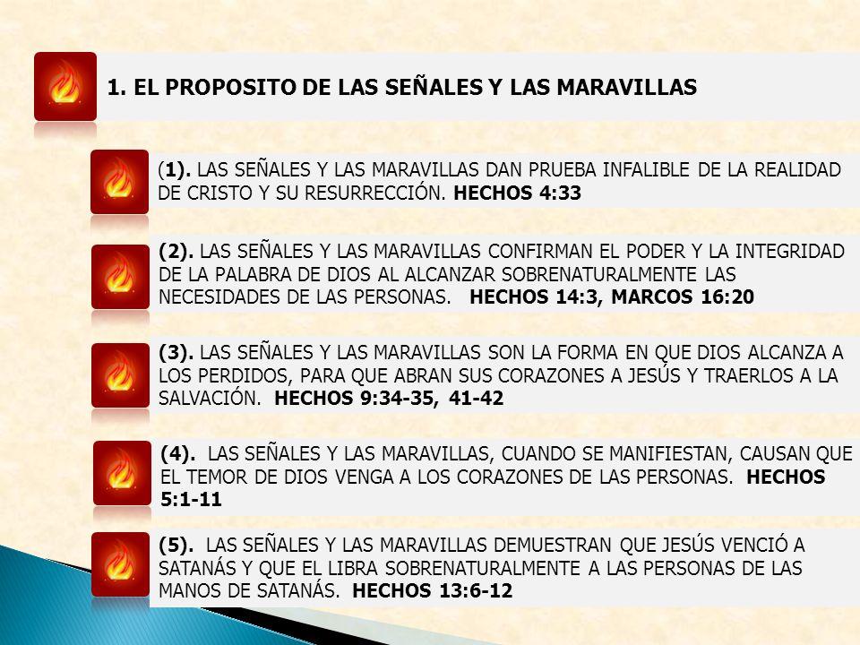 1. EL PROPOSITO DE LAS SEÑALES Y LAS MARAVILLAS