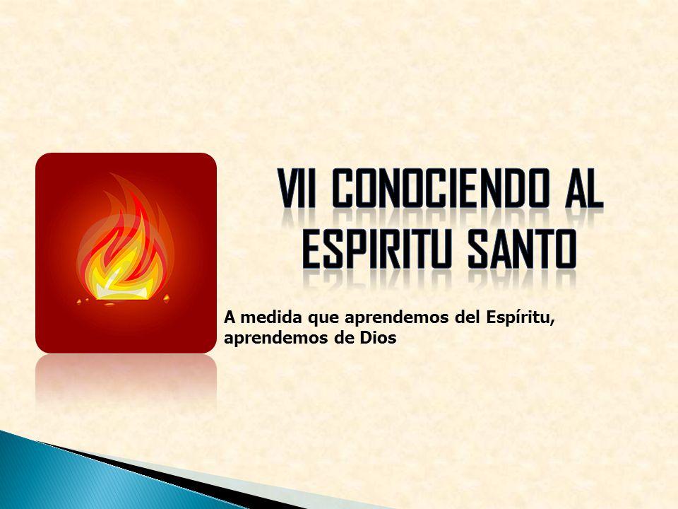 VII CONOCIENDO AL ESPIRITU SANTO