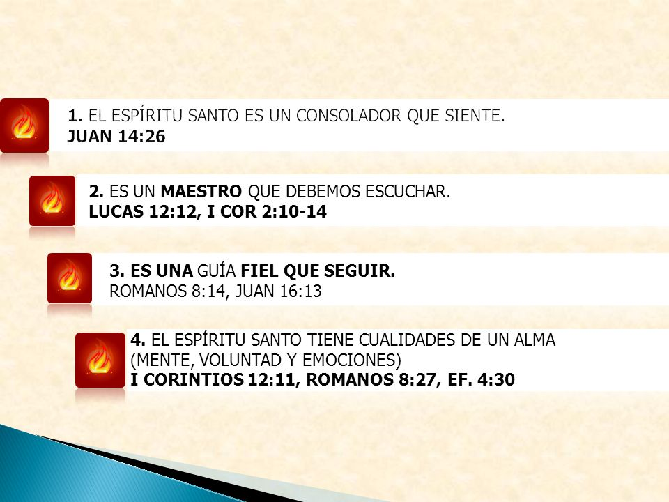 1. EL ESPÍRITU SANTO ES UN CONSOLADOR QUE SIENTE. JUAN 14:26