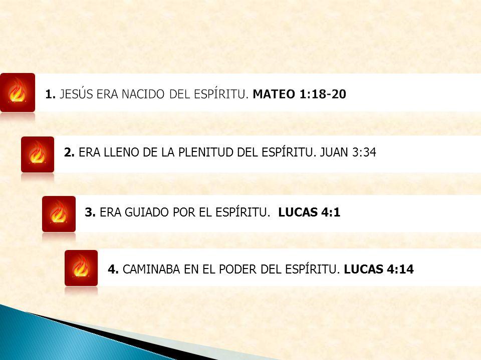 1. JESÚS ERA NACIDO DEL ESPÍRITU. MATEO 1:18-20