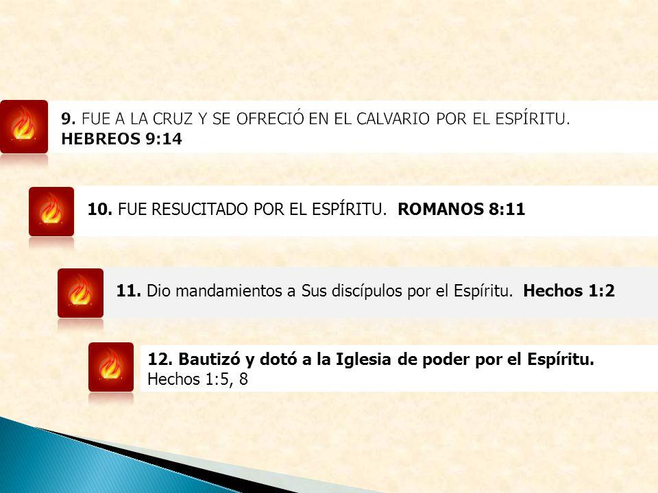 9. FUE A LA CRUZ Y SE OFRECIÓ EN EL CALVARIO POR EL ESPÍRITU