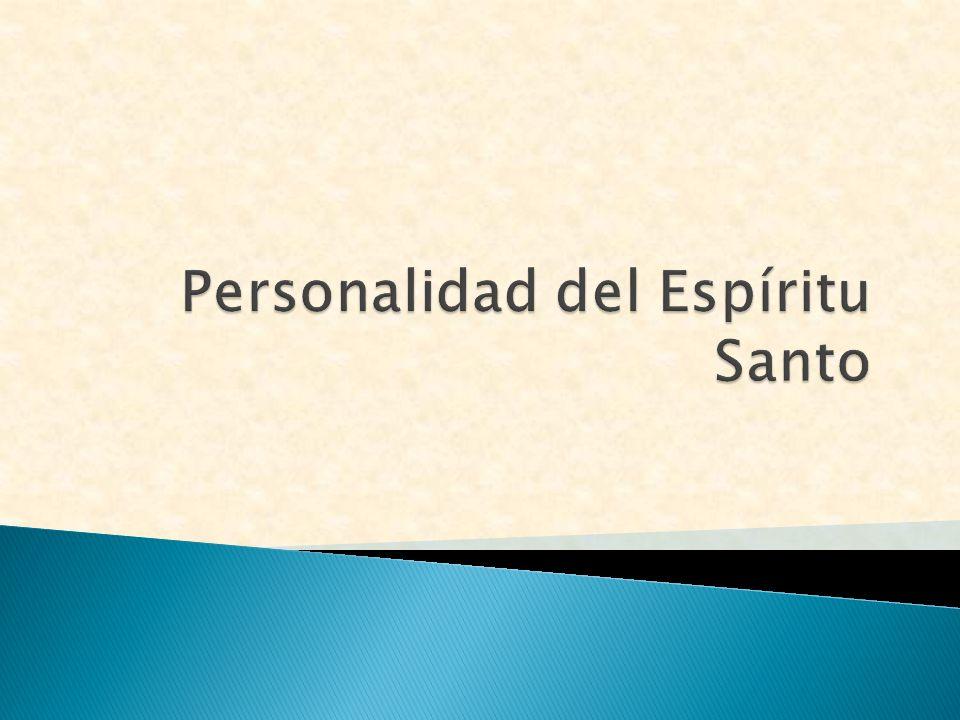 Personalidad del Espíritu Santo
