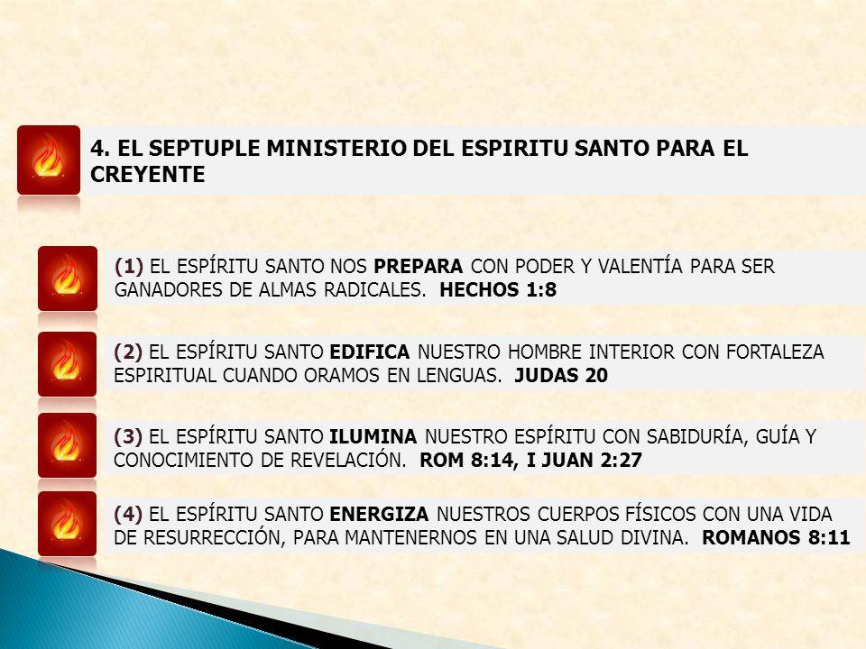 4. EL SEPTUPLE MINISTERIO DEL ESPIRITU SANTO PARA EL CREYENTE