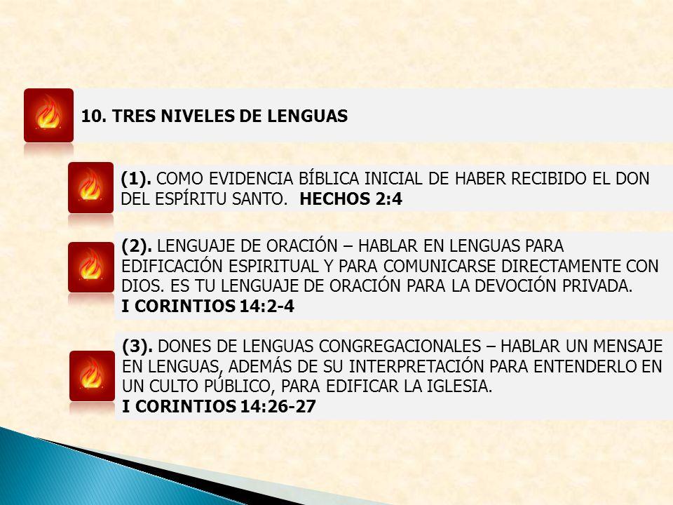 10. TRES NIVELES DE LENGUAS