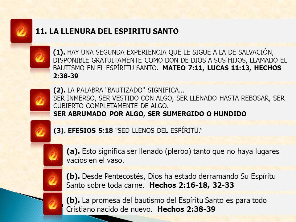 11. LA LLENURA DEL ESPIRITU SANTO