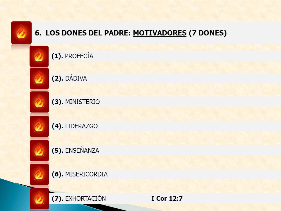 6. LOS DONES DEL PADRE: MOTIVADORES (7 DONES)