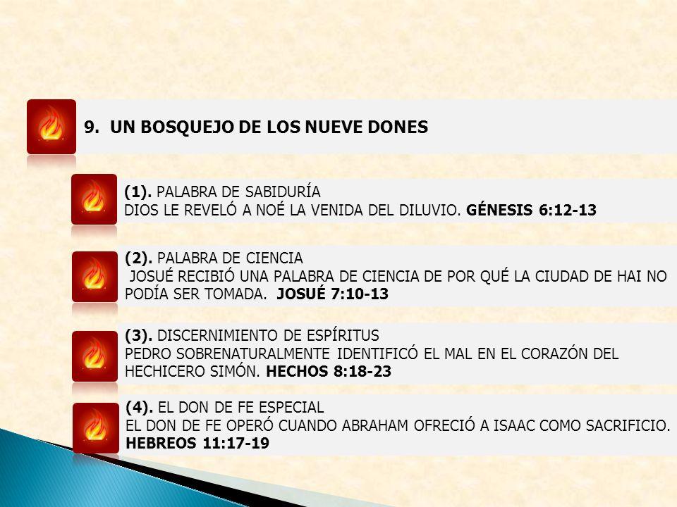 9. UN BOSQUEJO DE LOS NUEVE DONES