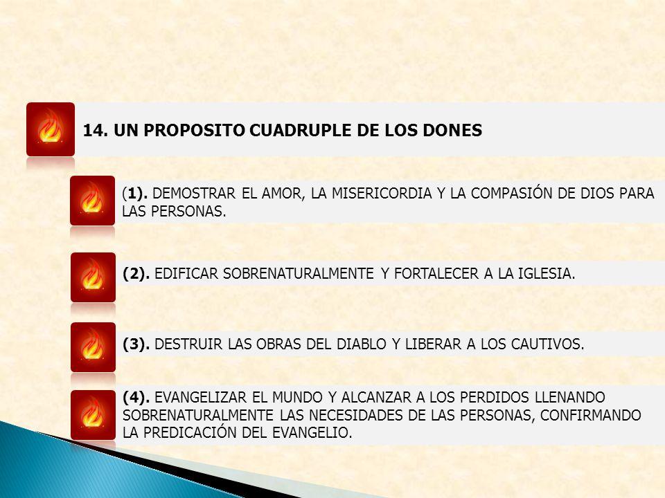 14. UN PROPOSITO CUADRUPLE DE LOS DONES