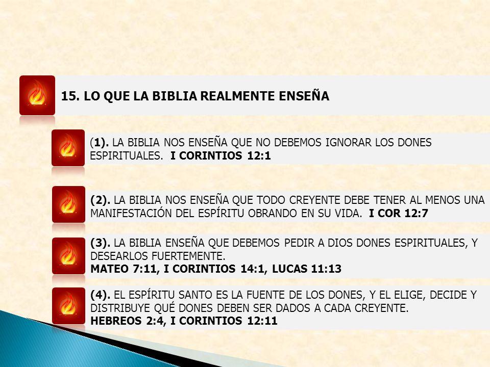 15. LO QUE LA BIBLIA REALMENTE ENSEÑA