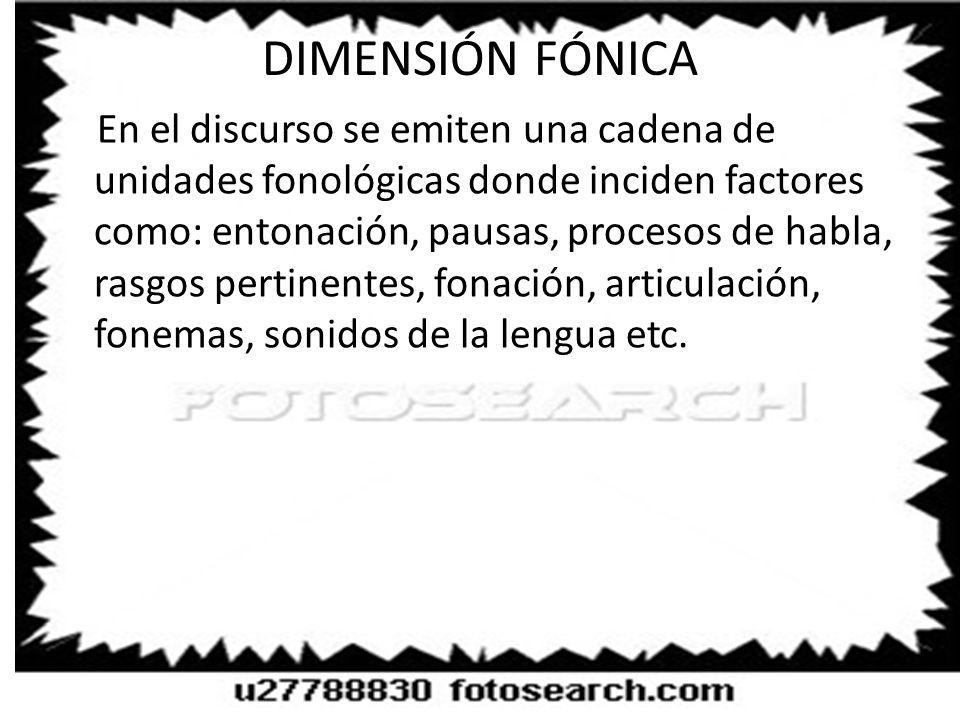 DIMENSIÓN FÓNICA