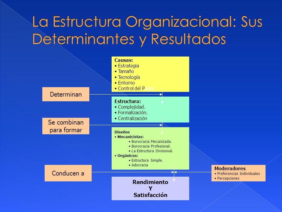 La Estructura Organizacional: Sus Determinantes y Resultados