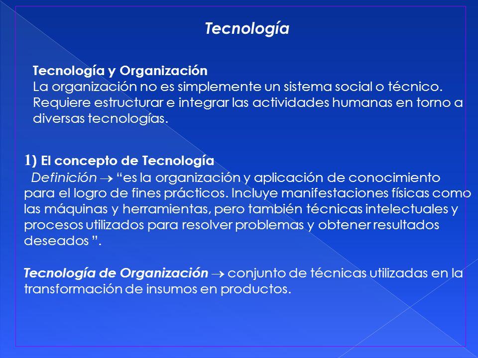 1) El concepto de Tecnología