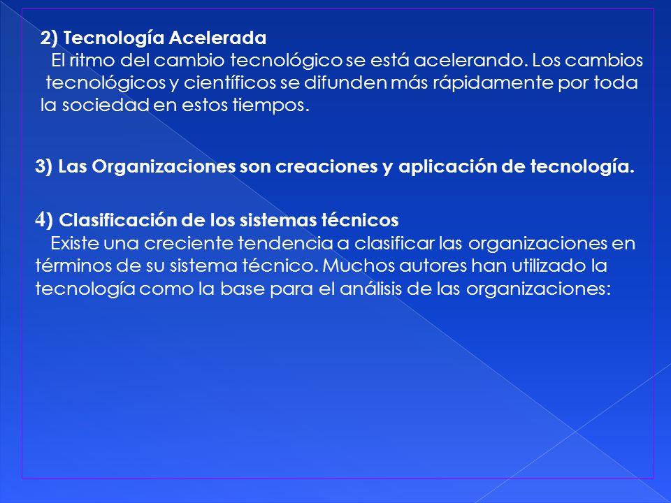 4) Clasificación de los sistemas técnicos