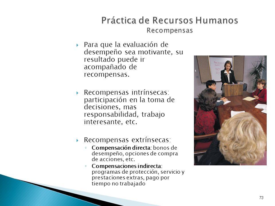 Práctica de Recursos Humanos Recompensas