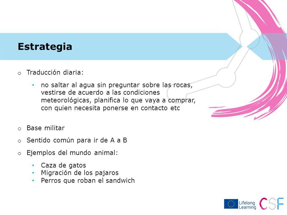 Estrategia Traducción diaria: