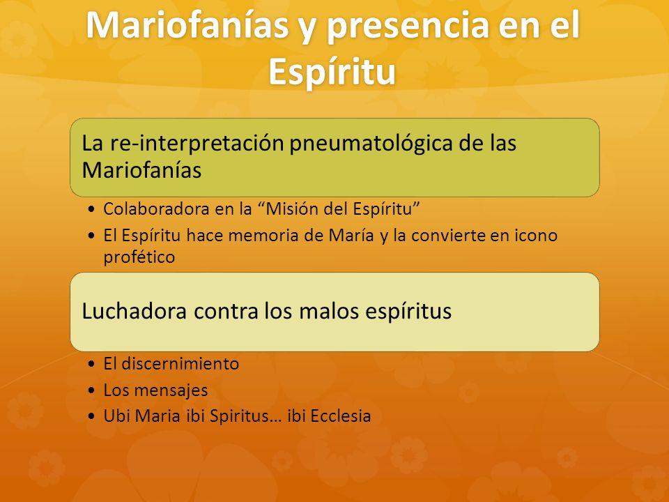 Mariofanías y presencia en el Espíritu